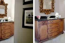 a new bathroom vanity from a restored vintage buffet planitdiy