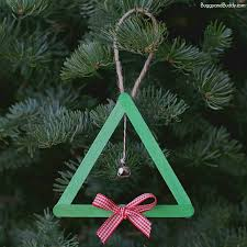 Easy Christmas Tree Decorations Popsicle Stick And Jingle Bell Christmas Tree Ornament Buggy And