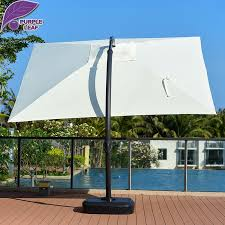 Patio Umbrellas Offset Purple Leaf Patio 13 2ft Aluminum Offset Cantilever Umbrella With