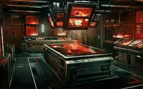 this may be the control room of a spaceship armed with a super