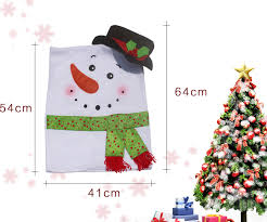 snowman chair covers 2pcs christmas snowman chair covers home decoration seat cover new