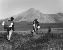 file hiking in tundra vintage photo jpg h i k i n g pinterest