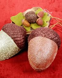 glittered acorn ornament box u0026 video martha stewart