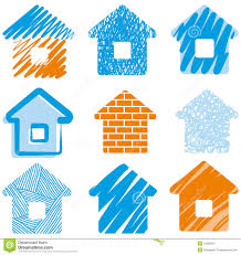 House Drawings by House Drawings Royalty Free Stock Photography Image 12659297