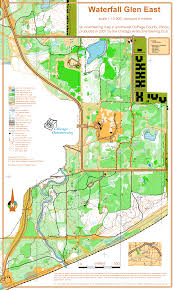 Chicago Suburbs Map Waterfall Glen East November 11th 2007 Orienteering Map From