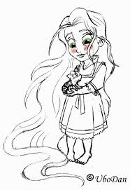 free tangled coloring pages disney princess coloring pages baby rapunzel cartoon beautiful