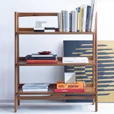 mid century modern low bookcase ideas