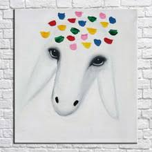 Goat Decor Popular Goat Art Painting Buy Cheap Goat Art Painting Lots From