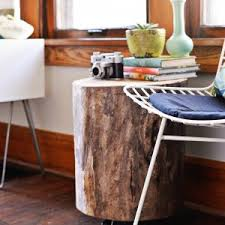 furniture stunning tree stump table for home interior and