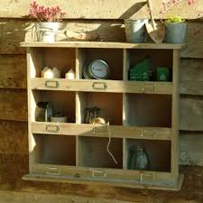 square rustic wooden pigeon hole unit garage organize my man