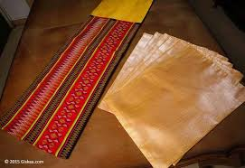 table runner placemat set buy yellow handmade silk ethnic table runner 1 and placemat 6