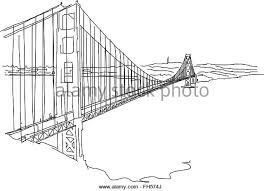 san francisco golden gate bridge stock vector images alamy