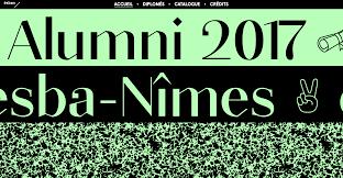 alumni accueil alumni 2017 esba nîmes fonts in use