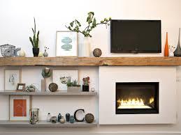 fireplace with barn beam mantel