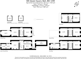 Sq Mt Sq Ft by 4 Bedroom Terraced House For Sale In Queen Square Bath Somerset