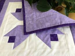 quilted square table toppers purple tulip quilted square table runner handmade purple patchwork