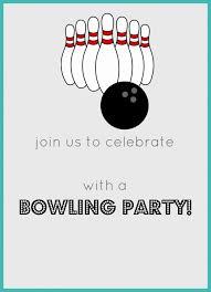 free printable bowling birthday party invitation celebrate