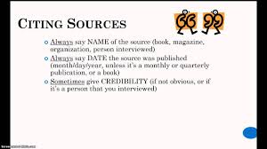cite how to cite sources verbally in your speech youtube