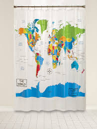 Best World Map Amazon Com Saturday Knight The World Peva Shower Curtain Home