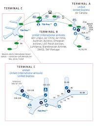 Star Alliance Route Map New York Newark Ewr Liberty International Airport Map United