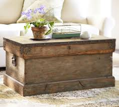 Rustic Chest Coffee Table Trunk Pottery Barn