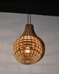 modern style water drop shape wooden pendant light parrotuncle