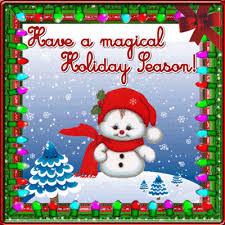 magical season snowman free happy holidays ecards greeting cards