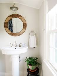 small cottage style bathroom makeover indigo u0026 honey