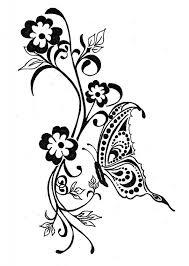 butterfly flower tattoo designs free butterflies and swirls tattoo