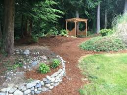 Backyard Walking Paths Open And Spacious Modern Home Near Kayak Homeaway Stanwood