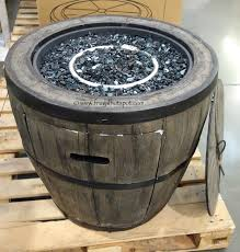 wine barrel fire table global outdoors 27 wine barrel gas fire table costco
