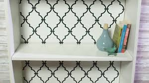 Stick And Peel Wallpaper by Makeover A Bookcase With Peel And Stick Wallpaper Youtube