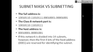 tutorial cara menghitung subnetting ip address n w address subnet mask broadcast address youtube