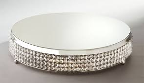 19 and half inch nickel plated sparkle cake plateau