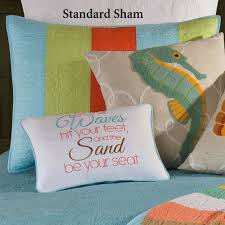 washed ashore beach themed quilt bedding