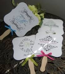 fans for weddings a idea if it is hot and the wedding is outside combine a