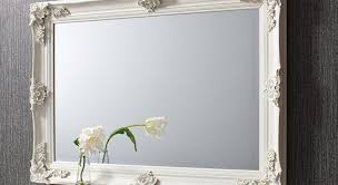 mirror wonderful white overmantle mirror white beaded edge