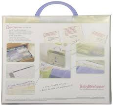 amazon com baby briefcase baby paperwork organizer mint