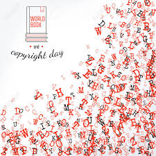 vector illustration of book and copuright day background for