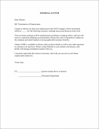 19 employment termination letters free word pdf format download