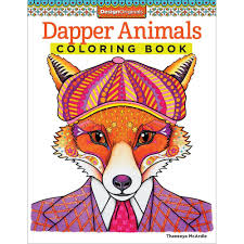 creative coloring books design originals creative coloring book dapper animals