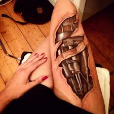 25 amazing biomechanical tattoos design leg tattoos tattoo and