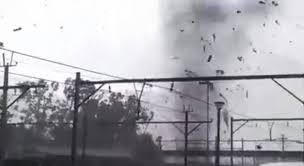 lexus kempton park second tornado video emerges tornado hits belfast railway