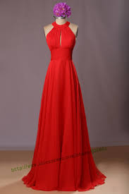 barato design simples noite elegante vestido de chiffon vermelho