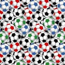 packed soccer balls quilting cotton fabric by the yard 44