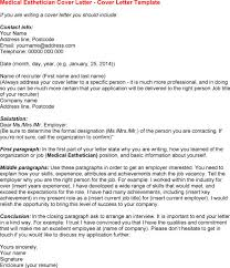 Medical Esthetician Resume Sample by Cosmetology Cover Letter Samples Latest Resume Format For