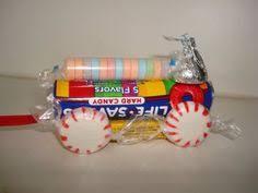 paste and popsicle sticks christmas lifesaver train favors