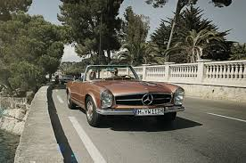 classic mercedes sedan tour france and italy in a classic mercedes roadster maxim