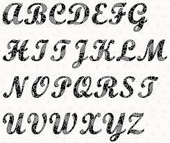 12 font alphabet letter templates images free printable large