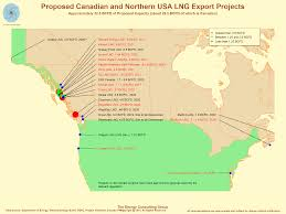 Us And Canada Map by Usa Natural Gas Market News